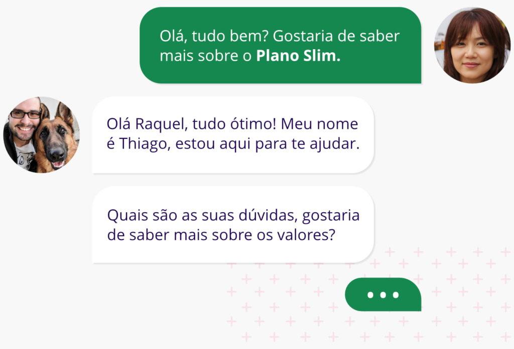 Imagem de um print de uma conversar no WhatsAPP.